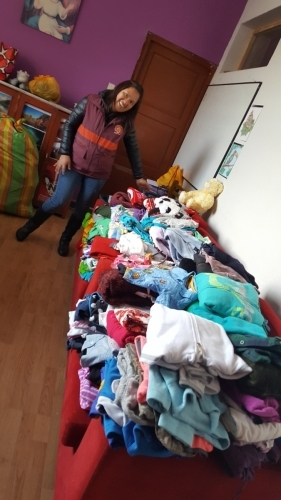 The donations arrive at the orphanage with us!