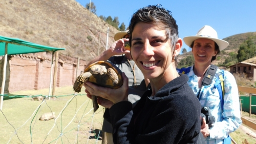 Liz and turtle
